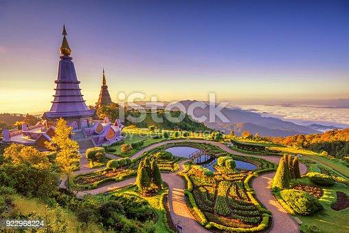 istock Landscape of two pagoda (noppha methanidon-noppha phon phum siri stupa) in an Inthanon mountain, chiang mai, Thailand 922968224