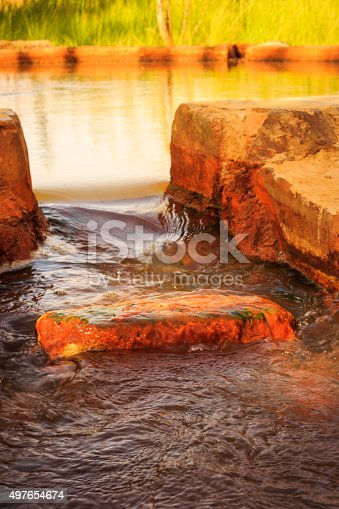 980314112 istock photo landscape of well of water moving into tunnel 497654674