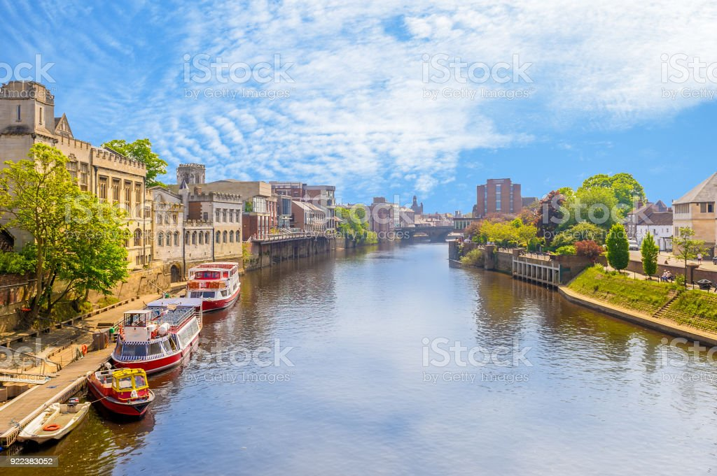 landscape of york by the riverbank stock photo