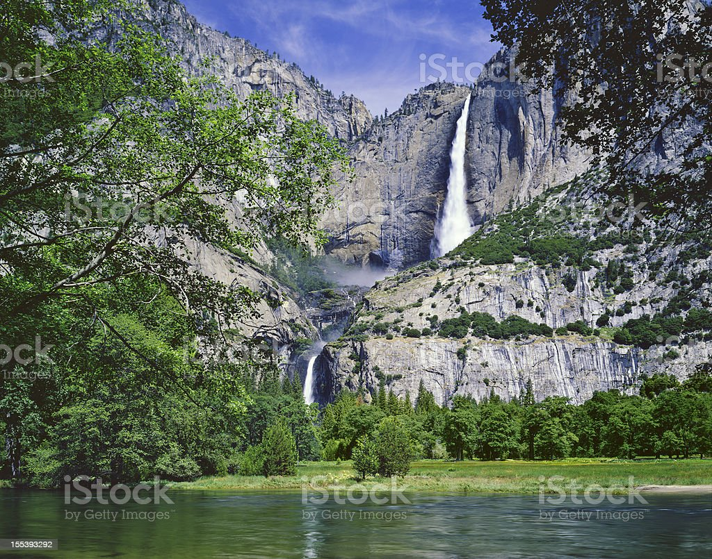 Landscape of Yosemite NP Spring on a sunny day stock photo