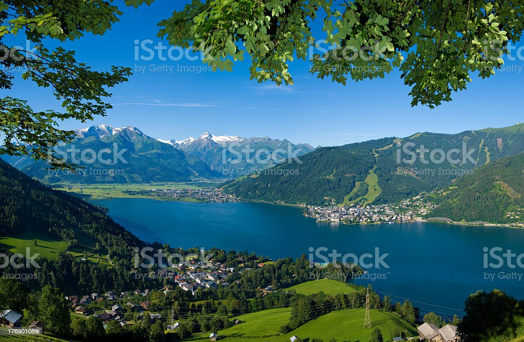 Landscape of Zell am See, Austria stock photo