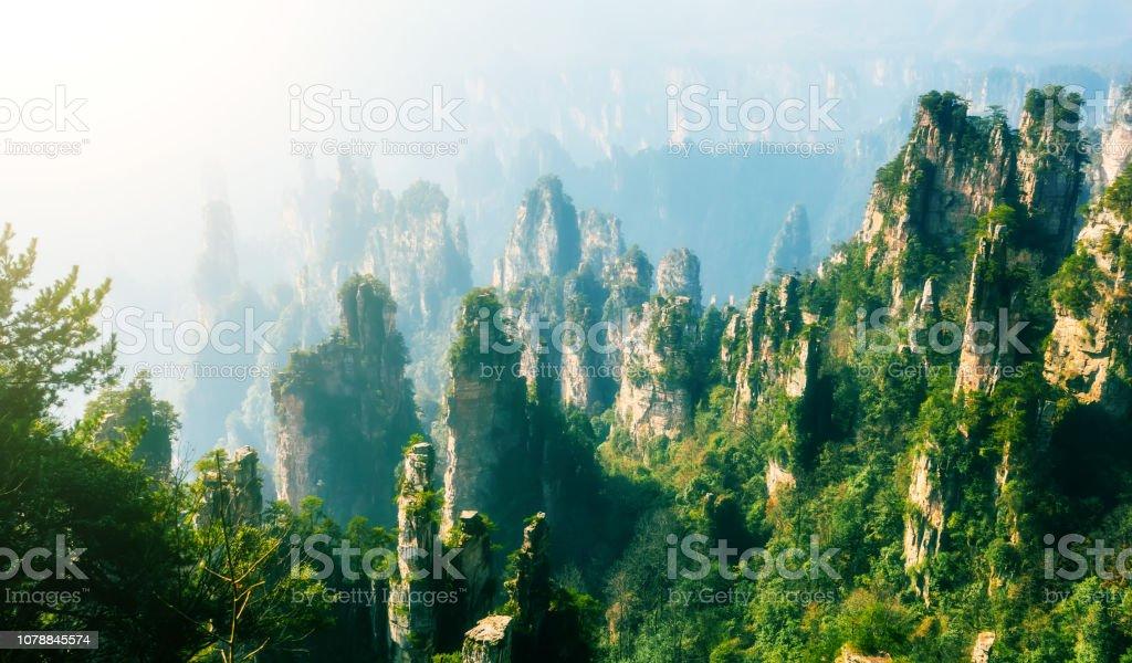 landscape of Zhangjiajie Wulingyuan stock photo