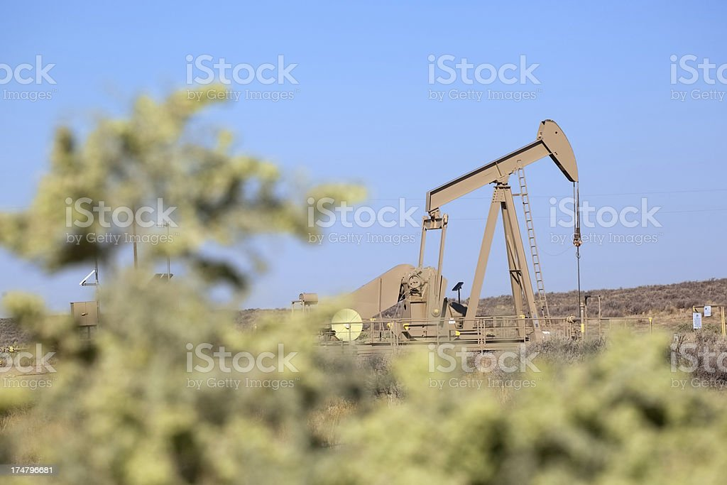 landscape oil drill royalty-free stock photo