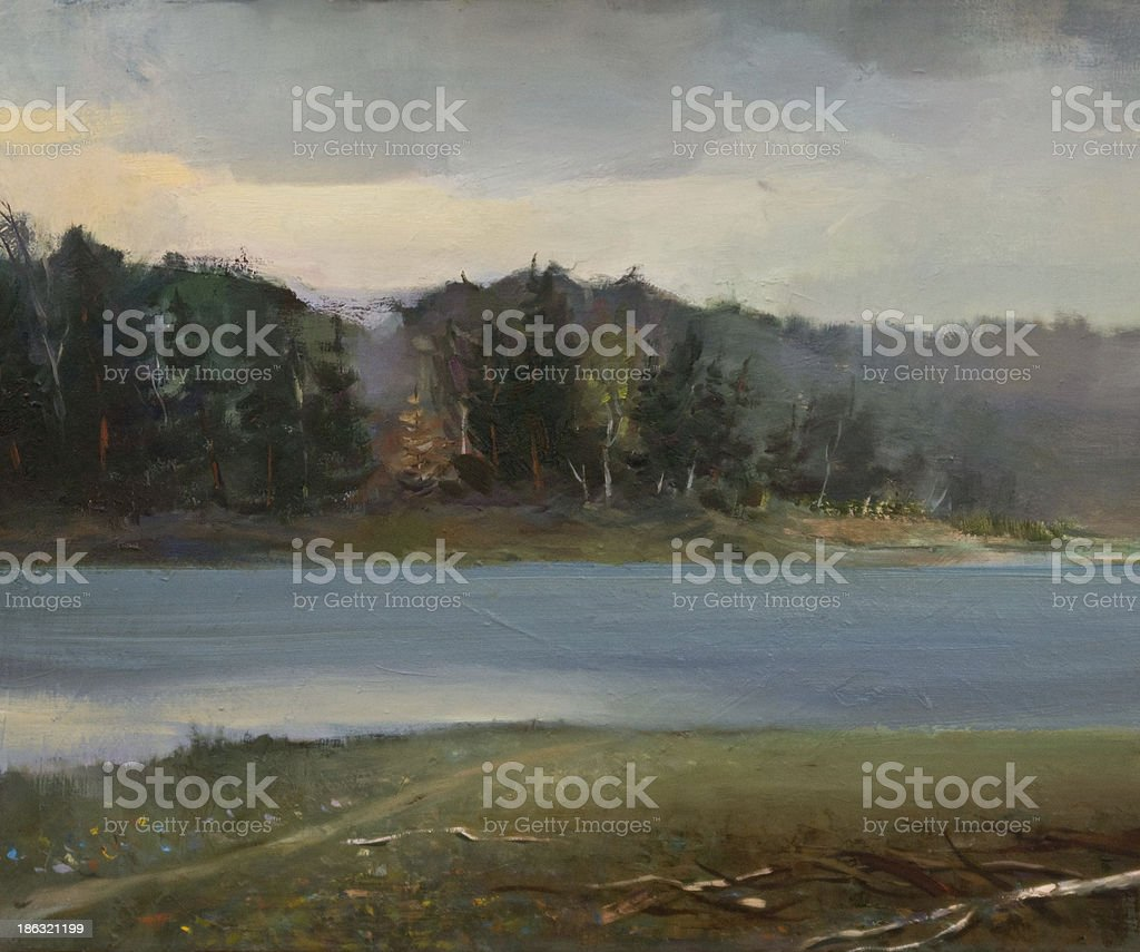 Landscape Oil Painting stock photo