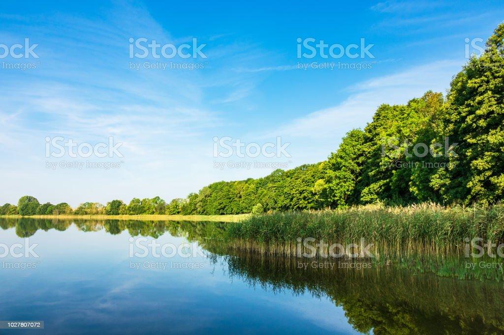 Landschaft auf einem See in Potzlow, Deutschland – Foto