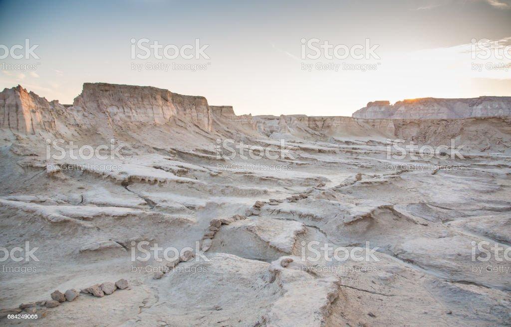 landscape on an island of Qeshm, Iran royalty-free stock photo