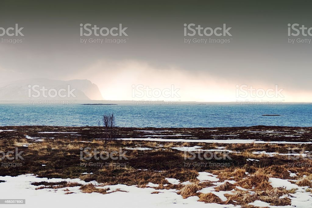 Landscape on Andoya,Vesteral Islands,Norway royalty-free stock photo