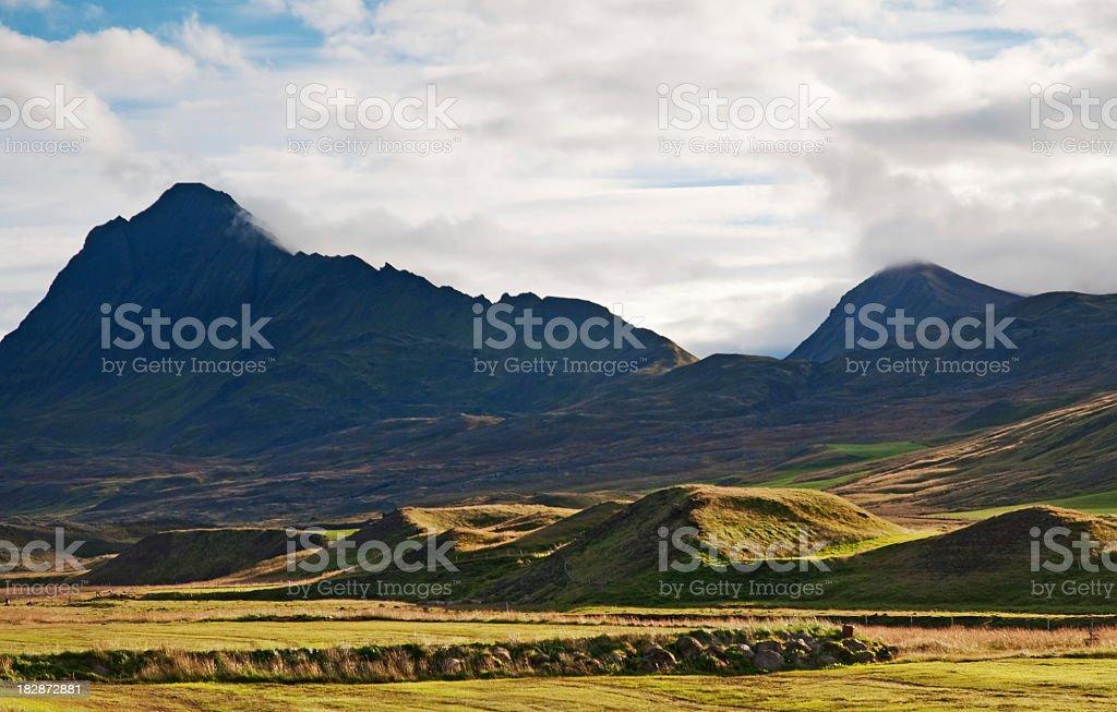 Landscape on Iceland stock photo