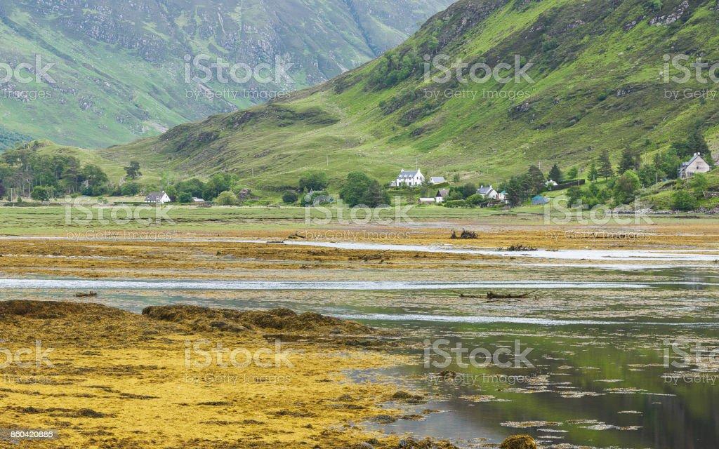 landscape on loch alsh nearby Glencoe stock photo