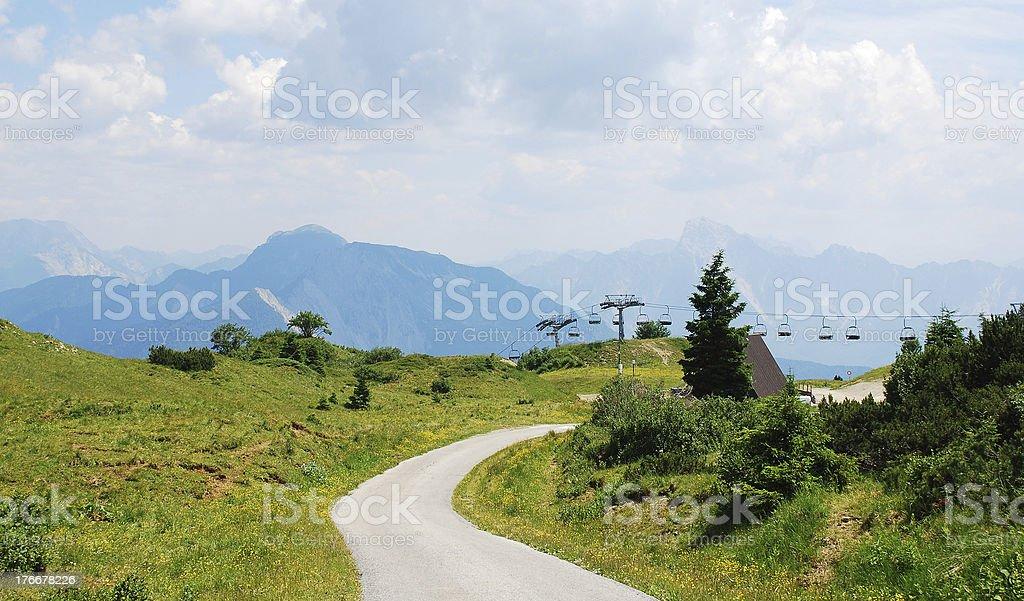 Panorama de Monte Zoncolan foto de stock libre de derechos