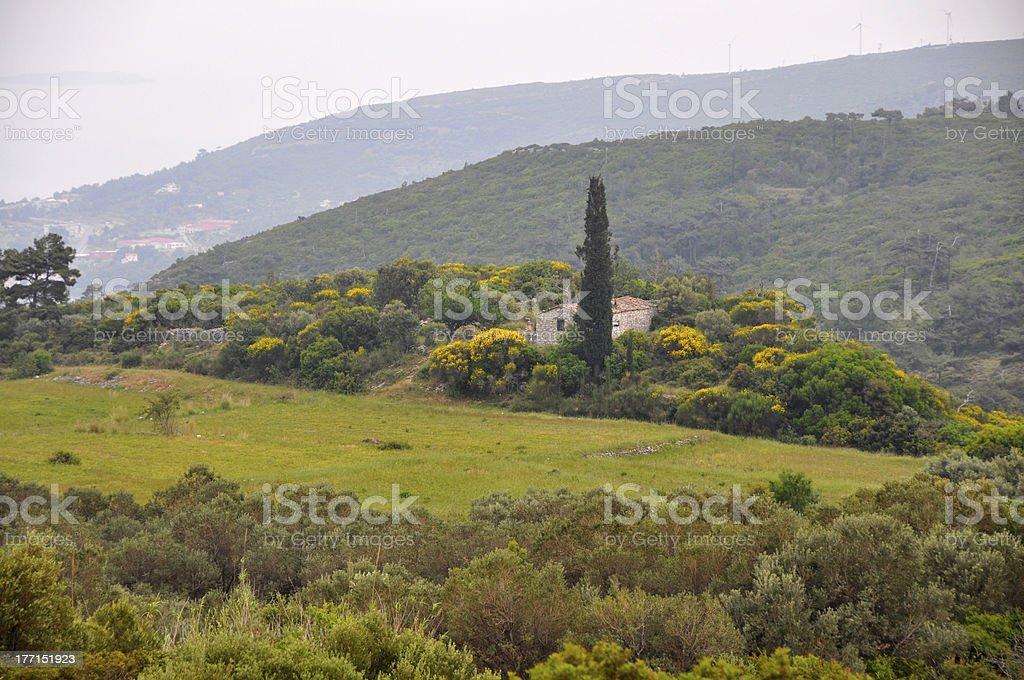 landscape on samos, greece royalty-free stock photo