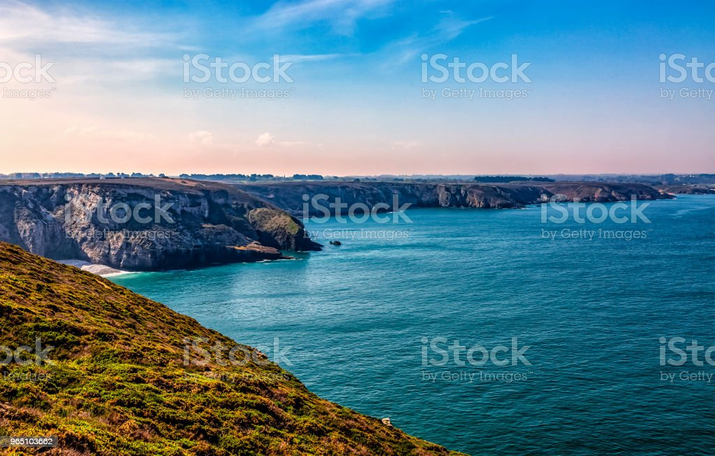 Landscape on the Armor Coastline in Brittany royalty-free stock photo