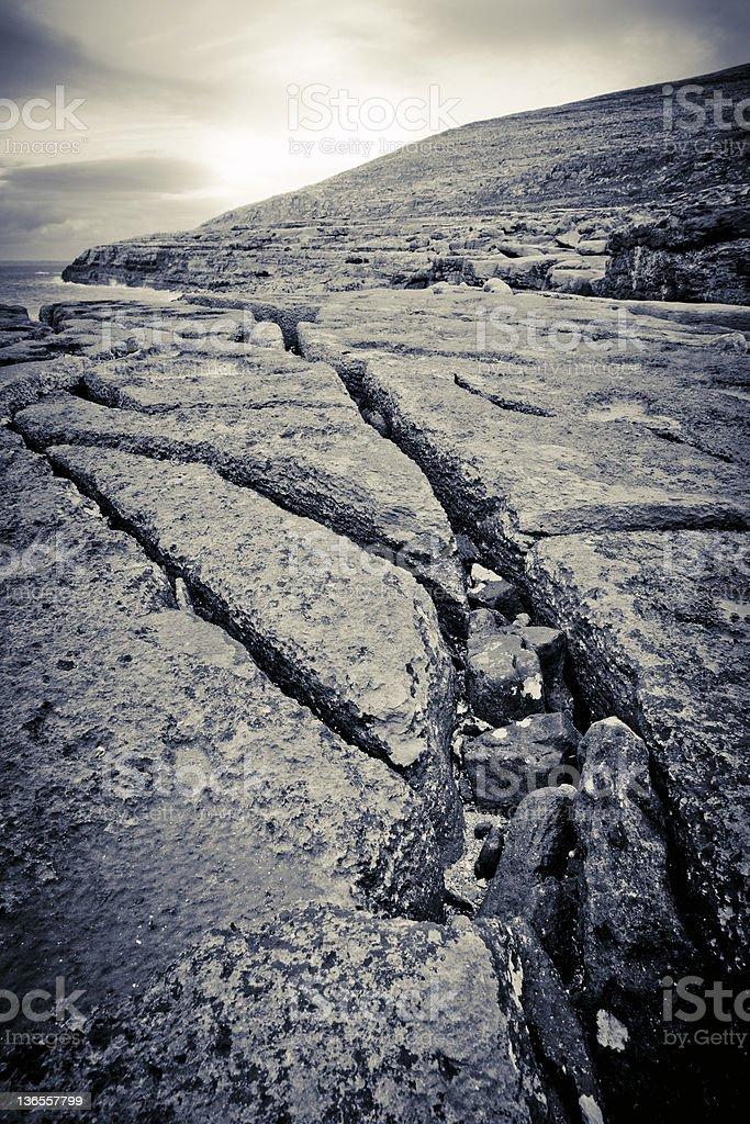 Landscape on the Burren. Ireland's Coastline royalty-free stock photo