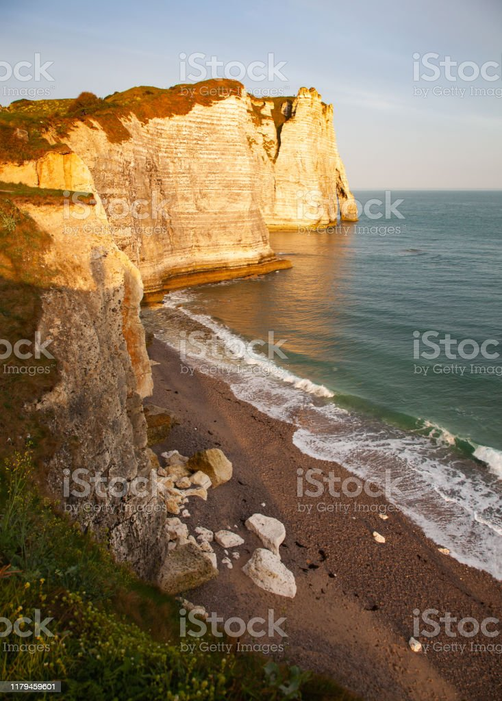 Landscape On The Cliffs Of Etretat Natural Amazing Cliffs Etretat