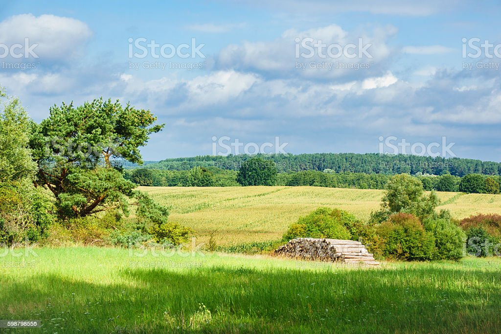 Landscape on the Mecklenburg Lake District stock photo