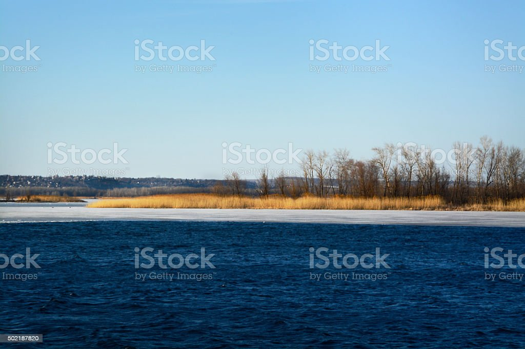 landscape on the river royalty-free stock photo