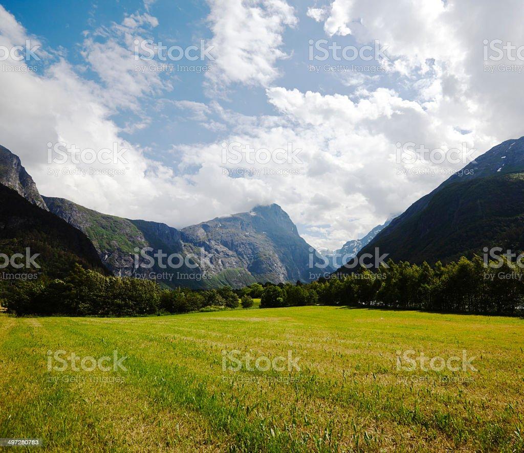 Landscape on the west coast. stock photo