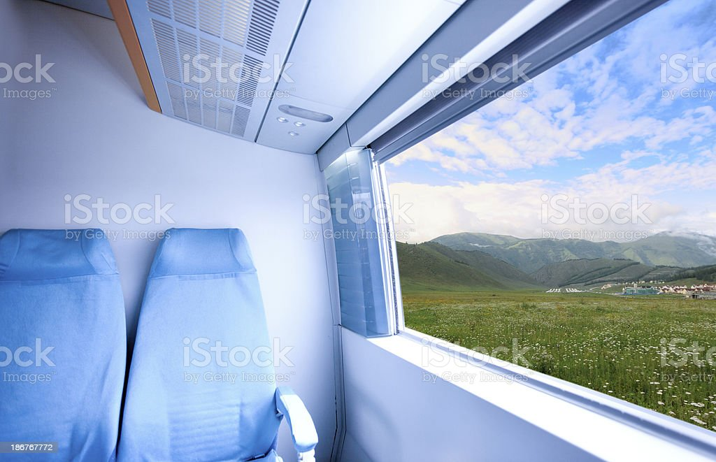 Landscape out of High speed train royalty-free stock photo