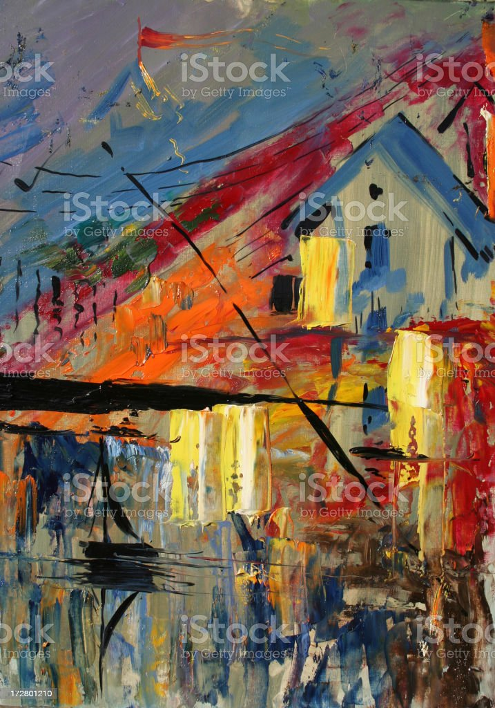 Landscape painting royalty-free stock photo