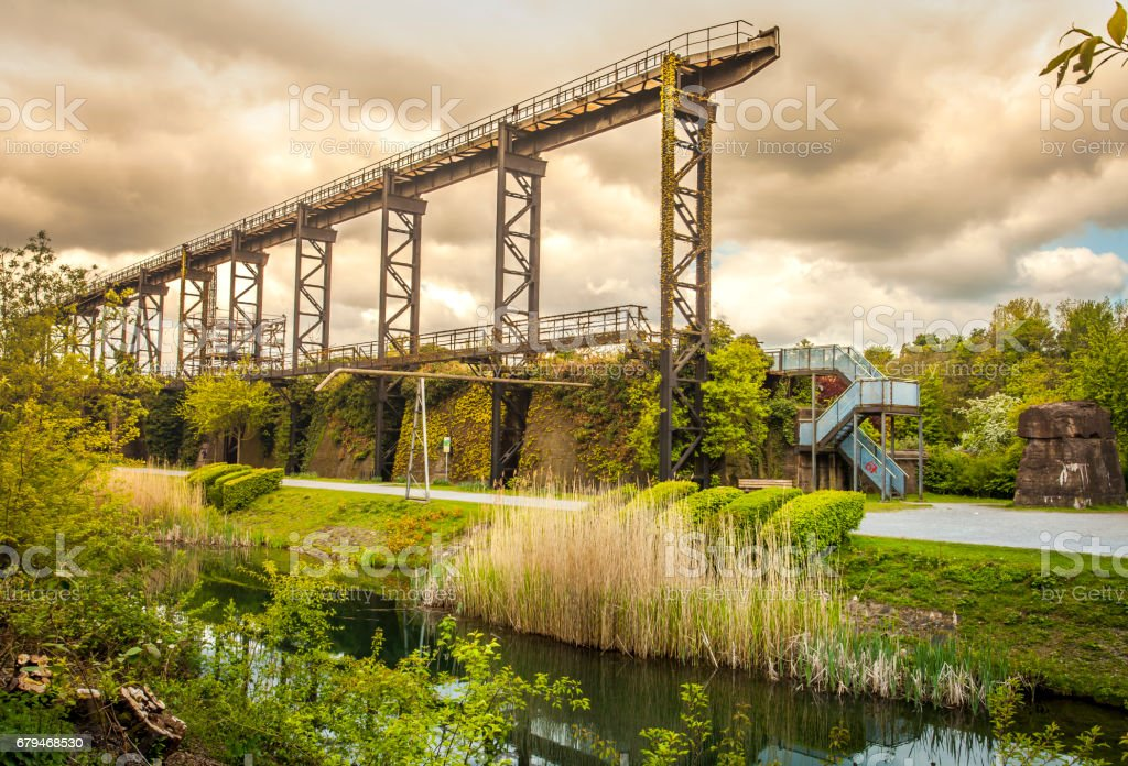 Landscape Park Duisburg North Industrial Culture park Germany stock photo