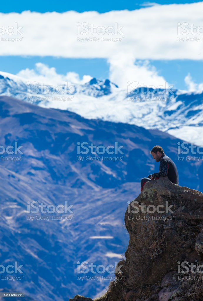 landscape Peru stock photo