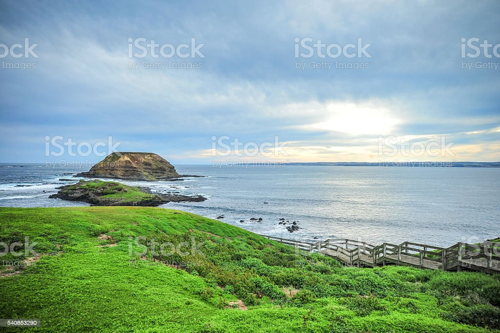 Landscape Phillip Island Australian Coast stock photo