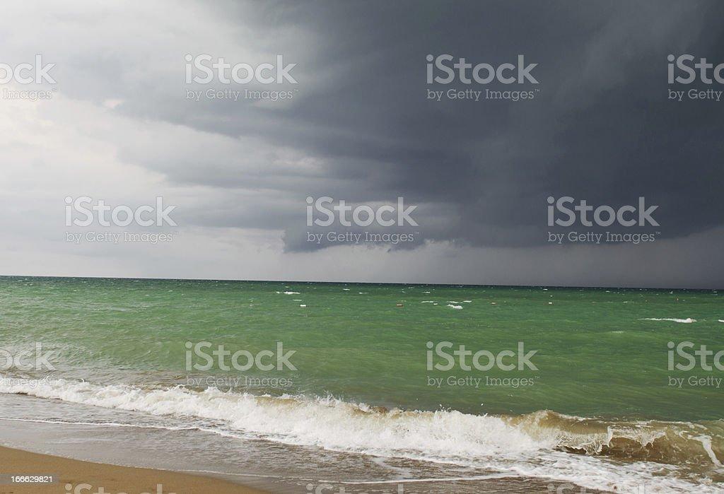Landscape photo of stormy sea royalty-free stock photo