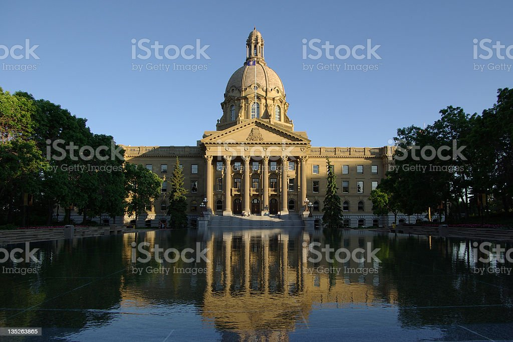 Landscape photograph of the Alberta Legislative Building stock photo