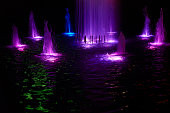 Fountain and lights