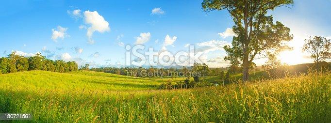 Beautiful landscape on a farm in Queensland Australia.