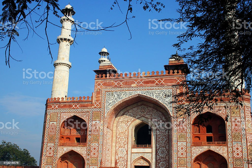 Landscape picture of Akbar's Tomb Front View stock photo