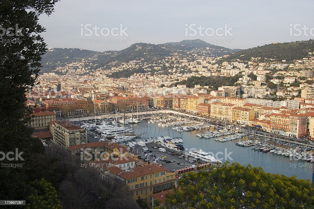 Landscape Port of Nice, France royalty-free stock photo
