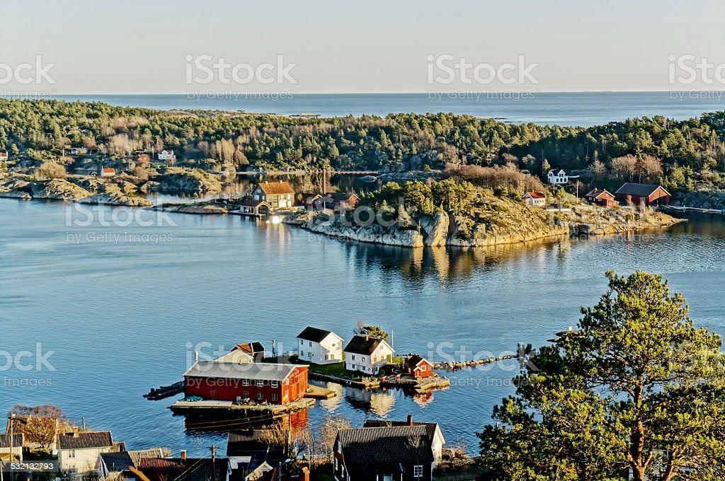Landscape rocky peninsula stock photo