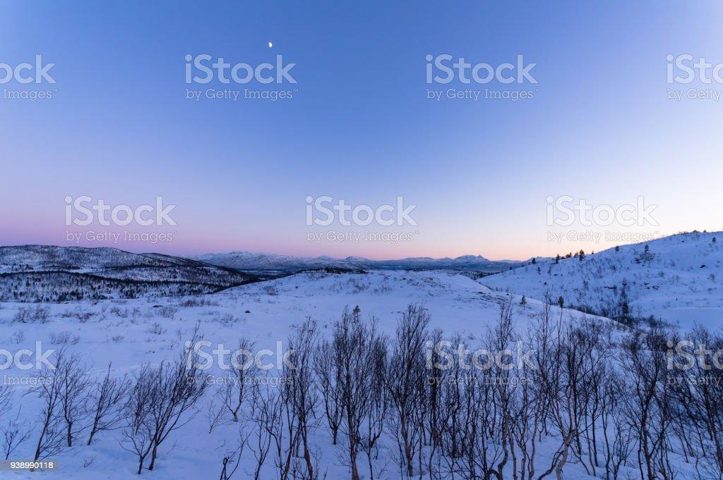 Manzara manzara Senja, Norveç royalty-free stock photo
