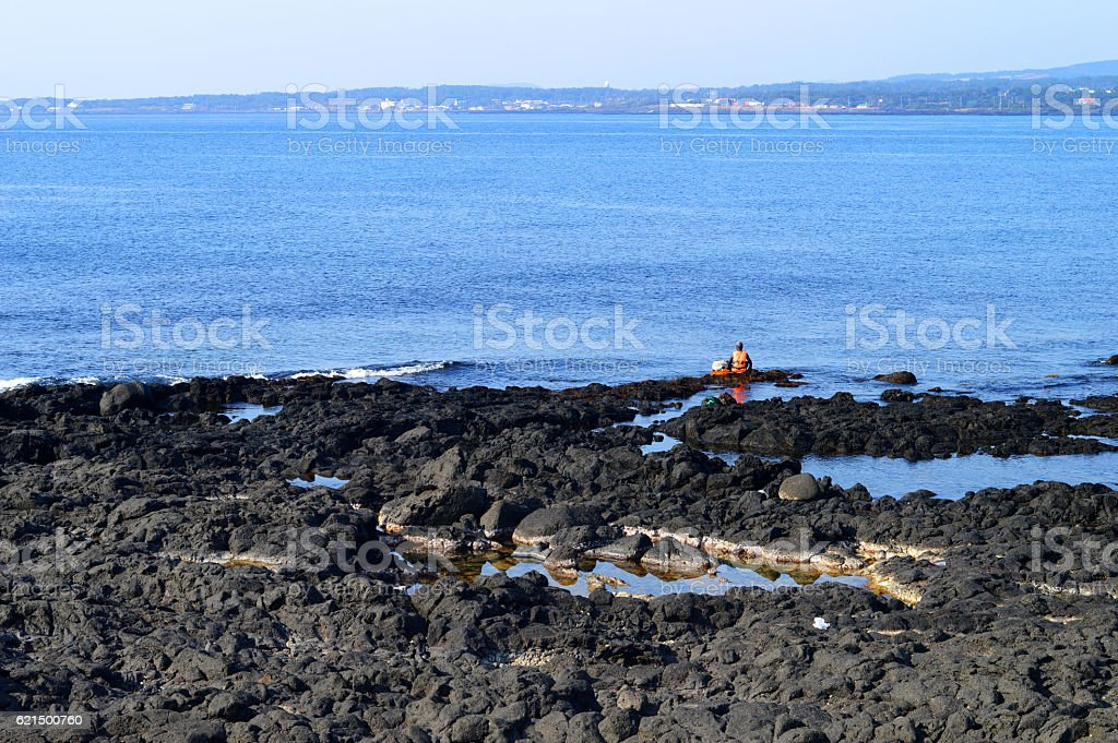 Landscape sea view with jeju Island, Korea foto stock royalty-free