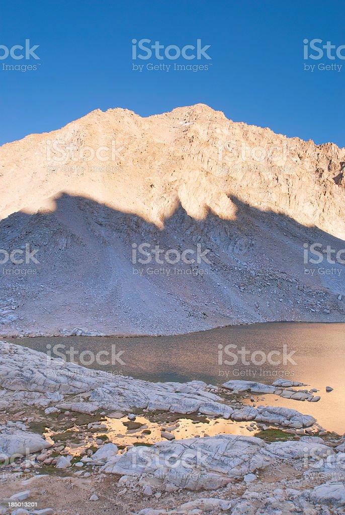 landscape shadow light mountain lake royalty-free stock photo