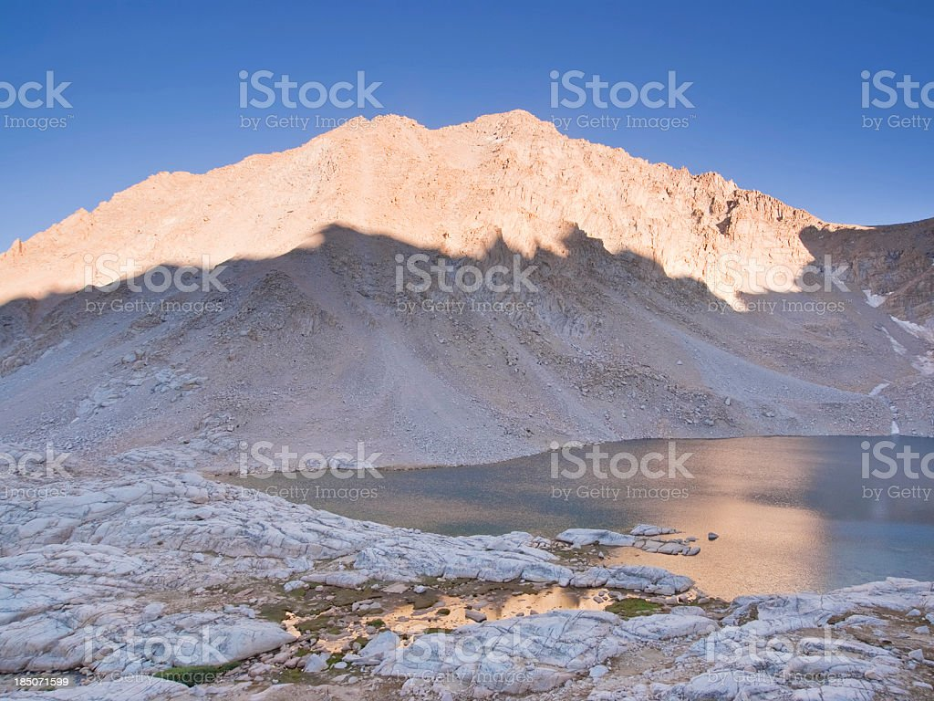 landscape shadow light mountain lake royalty-free stock photo