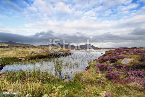 Moorland near Daliburgh in South Uist, The Outer Hebrides