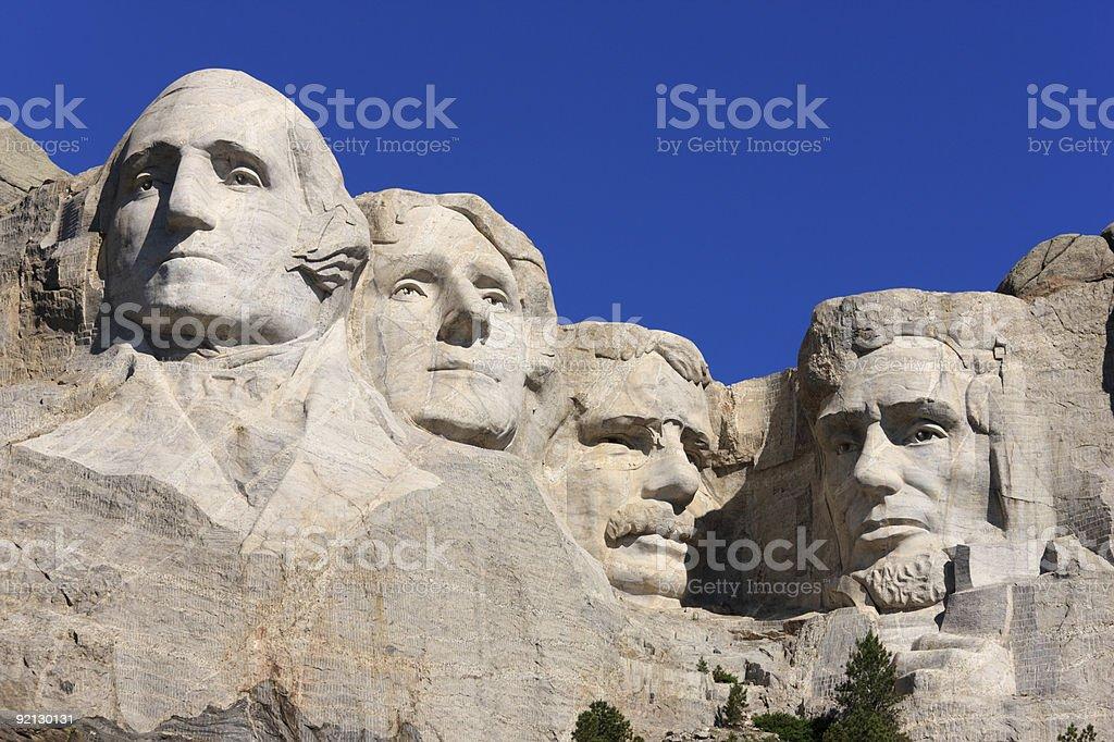 Landscape shot of Mount Rushmore Memorial, South Dakota stock photo