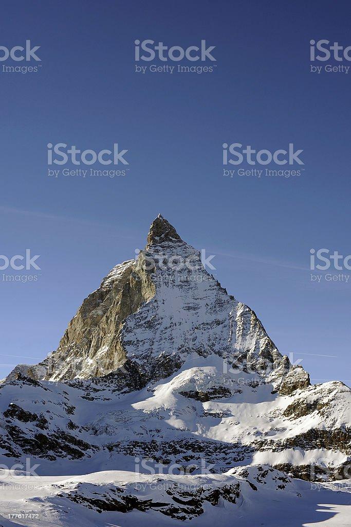 Landscape Shot Of The Matterhorn Mountains Switzerland stock photo