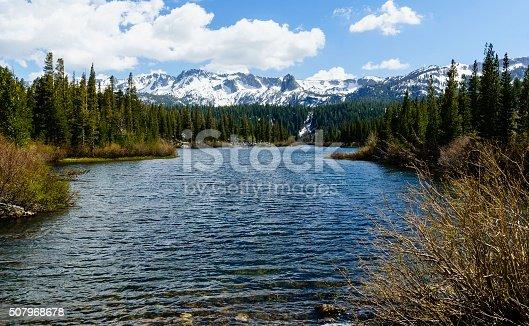 Beautiful landscape of Mammoth Lakes area in California.