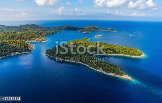 istock Landscape showing the island of Mljet 471534113