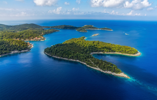 istock Landscape showing the island of Mljet 471534113