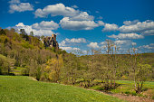 landscape wiesenttal franconia spring valley
