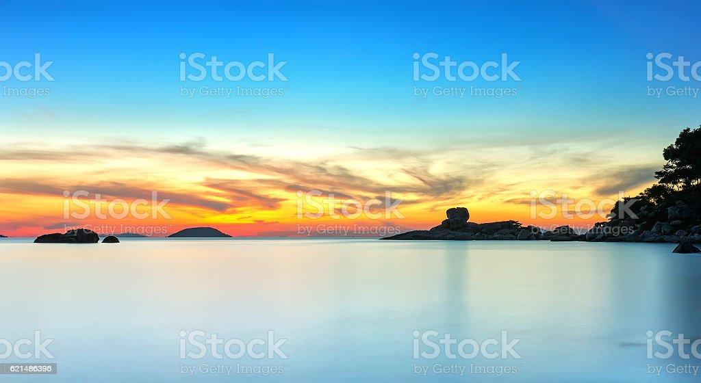 Landscape sunrise on Hon Chong cape photo libre de droits