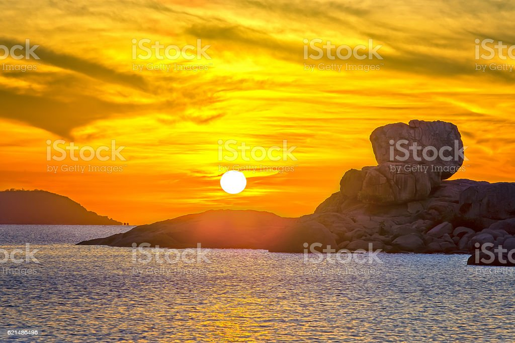 Landscape sunrise on Hon Chong cape Lizenzfreies stock-foto