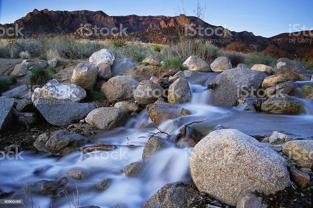 landscape sunset mountain river royalty-free stock photo