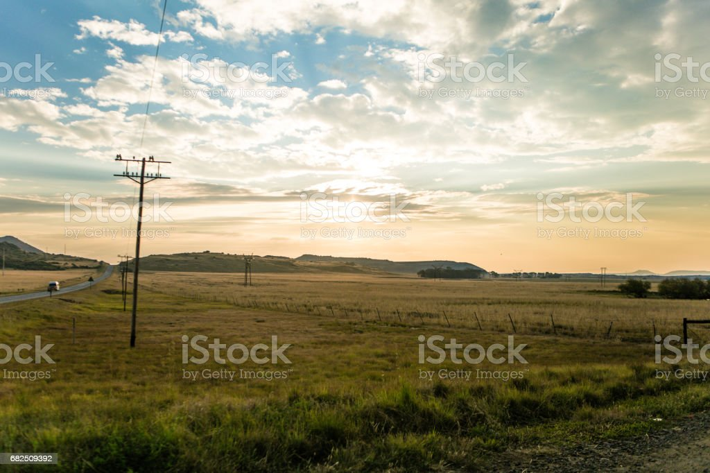 Landscape Sunset Lizenzfreies stock-foto