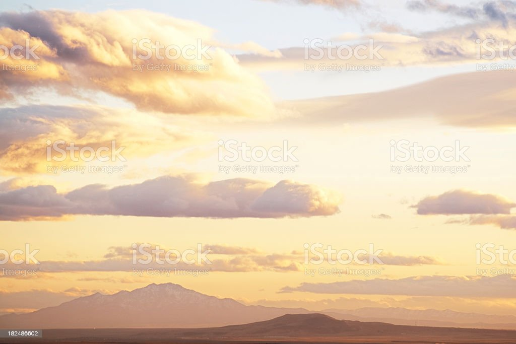 landscape sunset sky mountains royalty-free stock photo