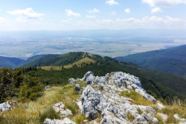 Manzara Stara Planina Dağları, Bulgaristan stok fotoğrafı
